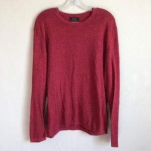 ZARA Soft Heathered Red Sweater